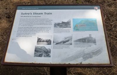 Sutro's Steam Train Marker image. Click for full size.