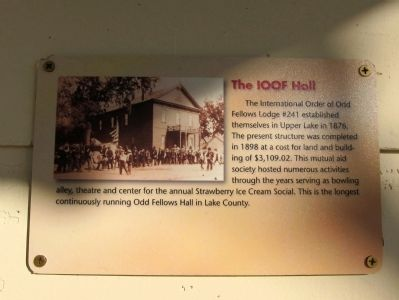 The IOOF Hall Marker image. Click for full size.