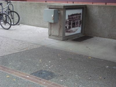 Photograph of the Old Jail on a Utility Box image. Click for full size.