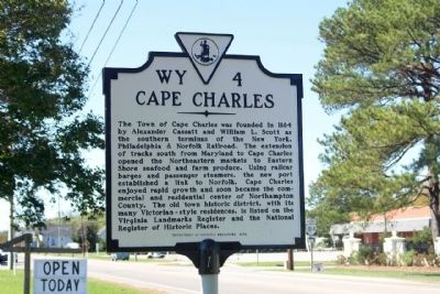 Cape Charles Marker image. Click for full size.