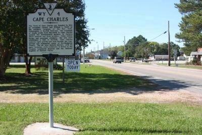 Cape Charles Marker, looking west along Randolph Avenue image. Click for full size.