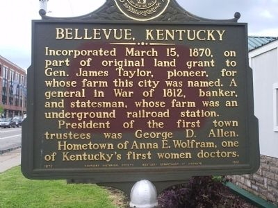 Bellevue, Kentucky Marker image. Click for full size.