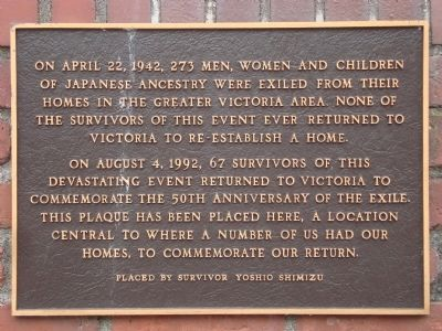 Japanese Internment Marker image. Click for full size.