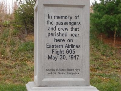 Flight 605 Marker image. Click for full size.