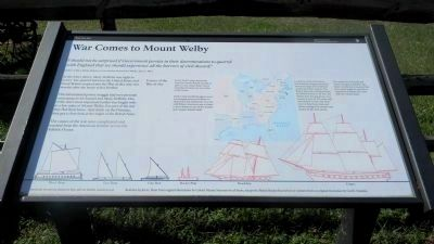 War Comes to Mount Welby Marker image. Click for full size.