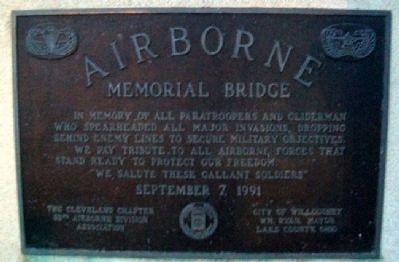 Airborne Memorial Bridge Marker image. Click for full size.