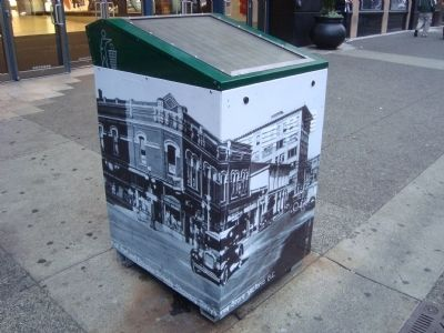 A Trash Receptacle Made More Interesting image. Click for full size.