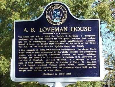 A.B. Loveman House Marker image. Click for full size.