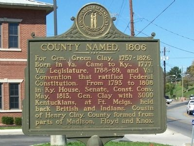 County Named, 1806 Marker image. Click for full size.