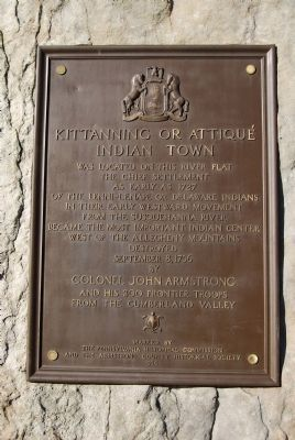 Kittanning or Attique Indian Town Marker image. Click for full size.