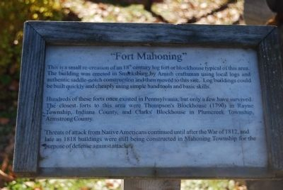 Fort Mahoning Marker image. Click for full size.