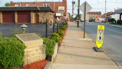 Site of Former Associate Reformed and United Presbyterian Churches Marker image. Click for full size.