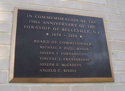 150th Anniversary of Belleville Marker image. Click for full size.