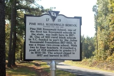Pine Hill Rosenwald School Marker image. Click for full size.