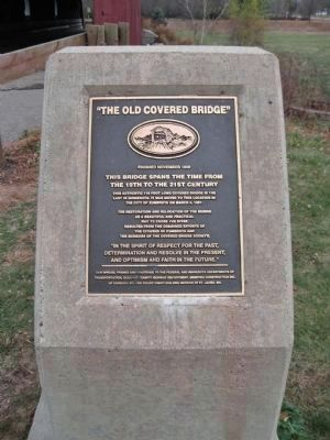 Zumbrota Covered Bridge Marker image. Click for full size.