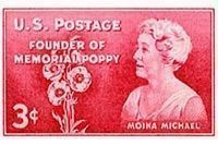 Moina Michael Stamp image. Click for full size.