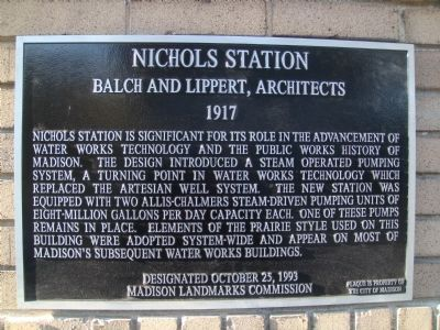 Nichols Station Marker image. Click for full size.