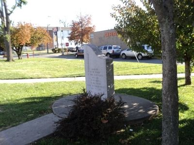 Marker on the Military Commons image. Click for full size.