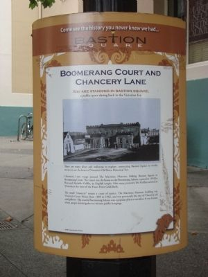 Boomerang Court and Chancery Lane Marker image. Click for full size.