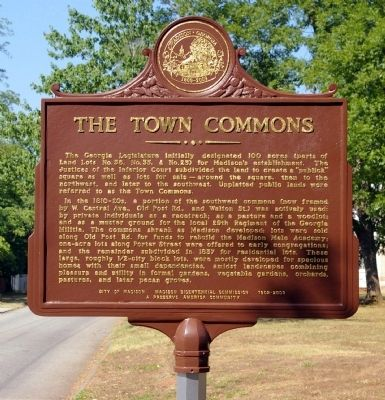 The Town Commons Marker image. Click for full size.