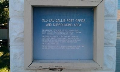 Old Eau Gallie Post Office and Surrounding Area Marker image. Click for full size.