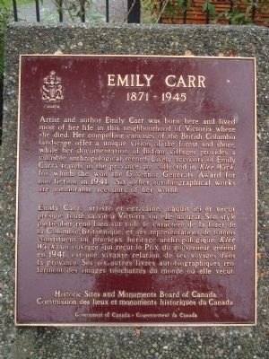 Emily Carr Marker image. Click for full size.