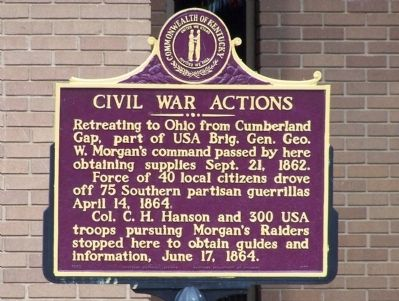 Civil War Actions Marker image. Click for full size.