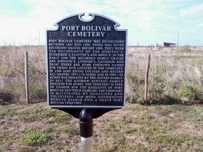 Port Bolivar Cemetery marker image. Click for full size.