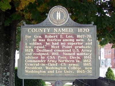 County Named, 1870 Marker image. Click for full size.