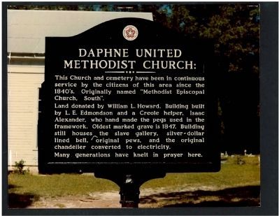 Daphne United Methodist Church Marker image. Click for full size.