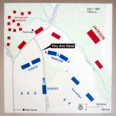 Malvern Hill Action on July 1, 1862 at 7:00 pm image. Click for full size.