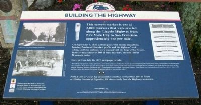 Building the Highway Marker image. Click for full size.