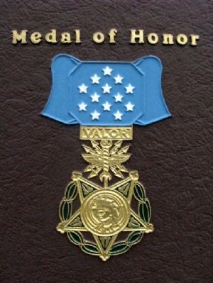 Medal of Honor on USAF Pararescue Mem Pkwy Marker image. Click for full size.