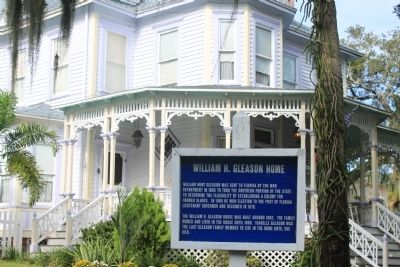 An additional William H. Gleason Home Marker image. Click for full size.