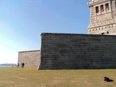 Granite Walls of Fort Wood image. Click for full size.
