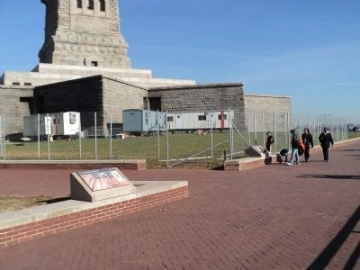 Markers on Liberty Island image. Click for full size.
