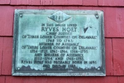 Ryves Holt House Marker image. Click for full size.