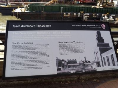 The New Ferry Building – Ellis Island Marker image. Click for full size.