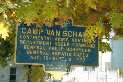 Camp Van Schaick Marker image. Click for full size.