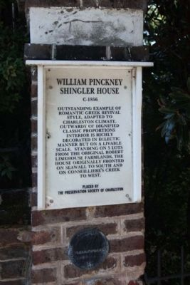 William Pinckney Shingler House Marker image. Click for full size.