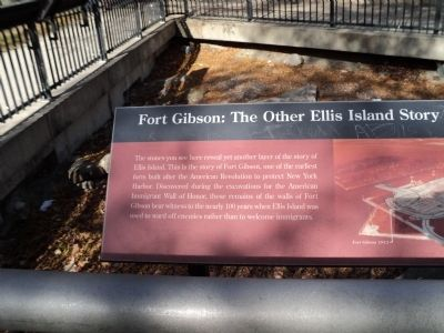 Fort Gibson Marker (Left Side) image. Click for full size.