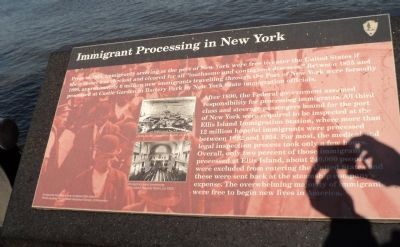 Immigrant Processing in New York Marker image. Click for full size.