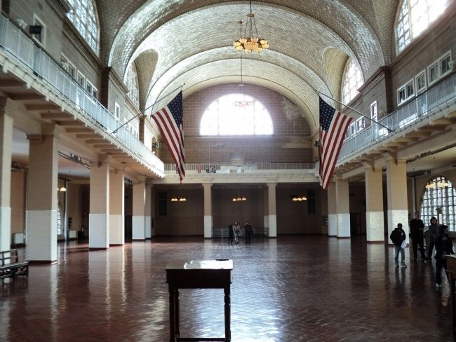 Ellis Island Registry Room image. Click for full size.
