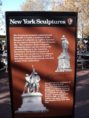 New York Sculptures Marker image. Click for full size.