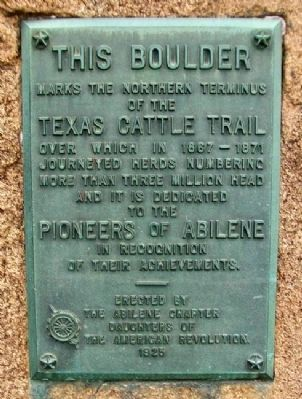 Texas Cattle Trail Marker image. Click for full size.