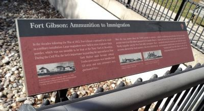 Fort Gibson: Ammunition to Immigration Marker image. Click for full size.