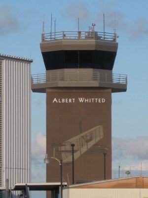 Airport Control Tower with portrait of Benoist XIV image. Click for full size.