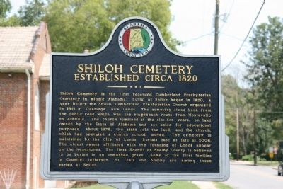 Shiloh Cemetery Marker image. Click for full size.