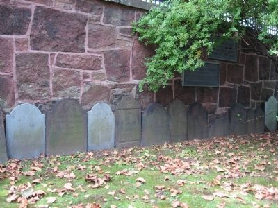 Gravestones in the Grove Street Cemetery image. Click for full size.