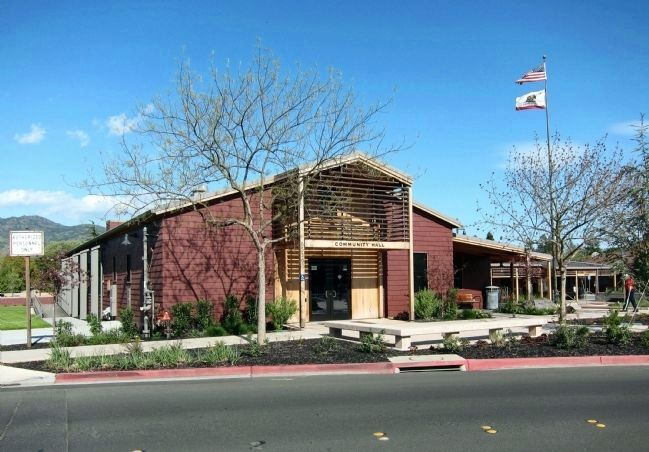 Yountville Community Hall - view from northwest image. Click for full size.